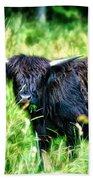Black Cow Bath Towel