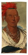 Black Hawk. Prominent Sauk Chief. Sauk And Fox Bath Towel
