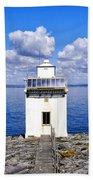 Black Head Lighthouse Bath Towel