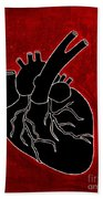 Black Heart Bath Towel