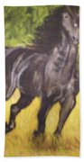 Black Horse Bath Towel