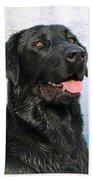Black Labrador Retriever Dog Smile Hand Towel