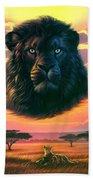 Black Lion Bath Towel