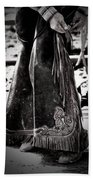 Black N White Chaps Bath Towel