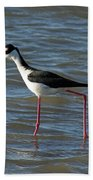 Black Necked Stilt Bath Towel