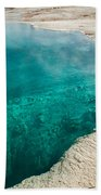 Black Pool In West Thumb Geyser Basin Bath Towel