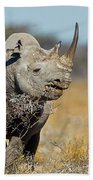 Black Rhino  Bath Towel