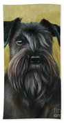 Black Schanuzer Bath Towel