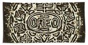 Black Sepia Oreo Bath Towel