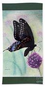 Black Swallowtail Butterfly By George Wood Bath Towel