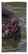 Black Swan Gladys Porter Zoo Texas Bath Towel