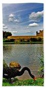 Black Swans At Leeds Castle II Bath Towel