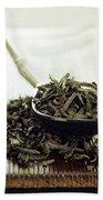 Black Tea Leaves Bath Towel