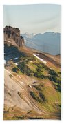 Black Tusk Mountain And Helm Lake Bath Towel
