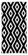 Black And White Pattern Bath Towel by Christina Rollo