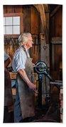 Blacksmith And Apprentice 2 Hand Towel