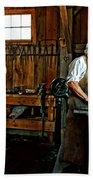 Blacksmith And Apprentice Bath Towel