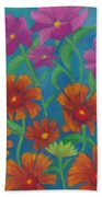 Blanket Flowers And Cosmos Bath Towel