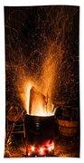Blazing Bonfire Bath Towel
