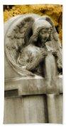 Blissful Angel In Autumn Bath Towel