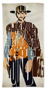 Blondie Poster From The Good The Bad And The Ugly Bath Towel