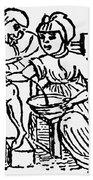 Bloodletting, 15th Century Bath Towel