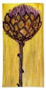 Blooming Artichoke - Cynara Cardunculus Bath Towel