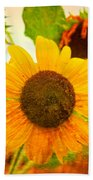 Blossoming Sunflower Beauty Bath Towel