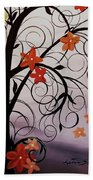 Blossoms Of The Orient Bath Towel