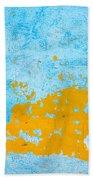 Blue And Orange Wall Texture Bath Towel