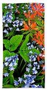 Blue And Red Flowers In Kuekenhof Flower Park-netherlands Bath Towel