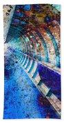 Blue And Rust Grunge Tunnel Bath Towel