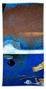 Blue And Rusty Picking Bath Towel