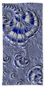 Blue And Silver 1 Bath Towel