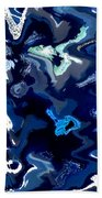 Blue And Turquoise Abstract Bath Towel