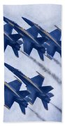 Blue Angels Fa 18 V19 Bath Towel