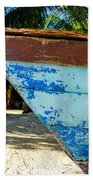 Blue Beached Canoe Bath Towel