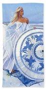 Blue Berry Beach  Bath Towel