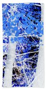 Blue Birch Trees Bath Towel