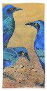 Blue Birds Of Happiness Hand Towel