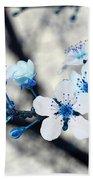 Blue Blossoms Bath Towel