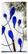 Blue Bottle Tree Bath Towel