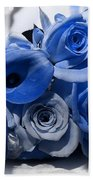 Blue Bouquet Bath Towel