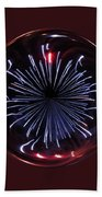 Blue Burst Orb Abstract Bath Towel
