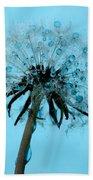 Blue Dandelion Wish Bath Towel