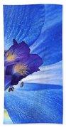 Blue Delphinium Bath Towel