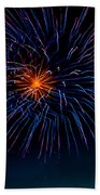 Blue Firework Flower Bath Towel