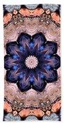 Blue Flora Mandala Bath Towel
