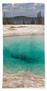 Blue Funnel Spring In West Thumb Geyser Basin Bath Towel