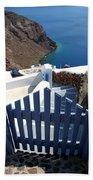 Blue Gate Oia Santorini Greek Islands Bath Towel